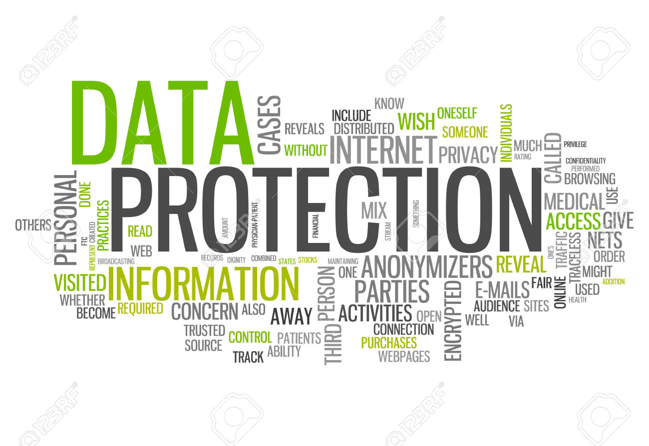 27038251 Word Cloud With Data Protection Related Tags Stock Photo