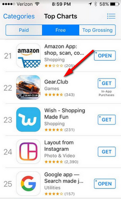 .Club Domain Name In The ITunes App Store