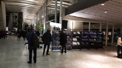 EB140 Delegates Browse Candidates' Brochures During The Vote For Director General Today