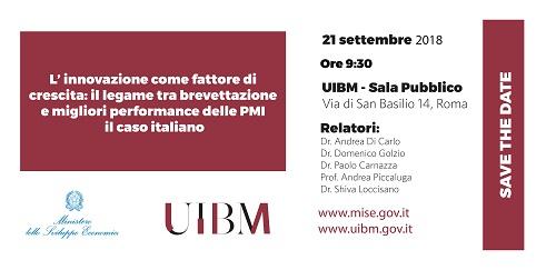 21/09/2018- L'innovazione Come Fattore Di Crescita: Il Legame Tra Brevettazione E Migliori Performance Delle PMI, Il Caso Italiano