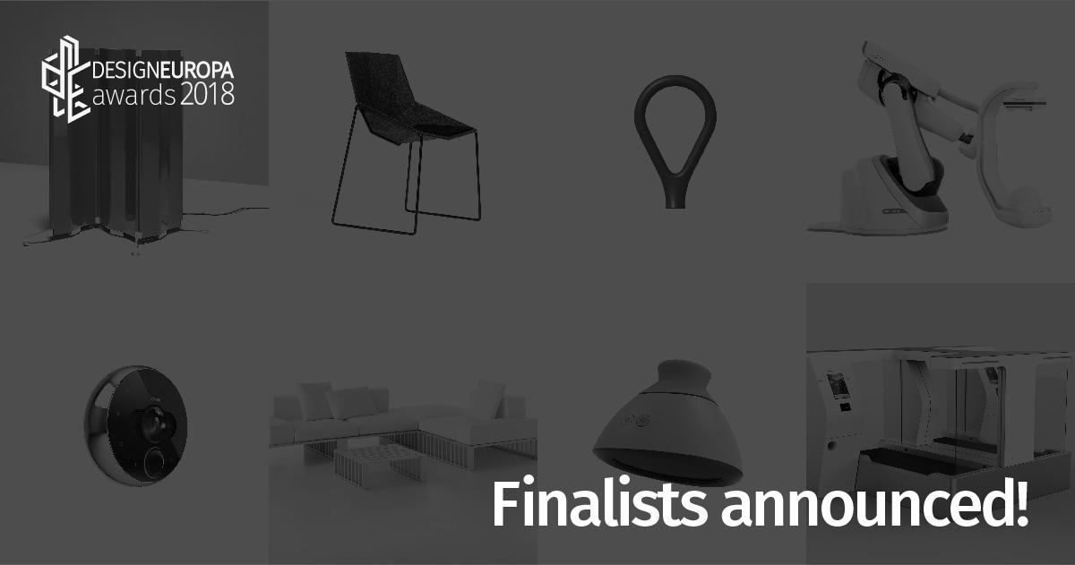 """09/10/2018 – Annunciati I Finalisti Dei Premi DesignEuropa Per Le Categorie """"Industria"""", """"Imprese Piccole Ed Emergenti"""""""