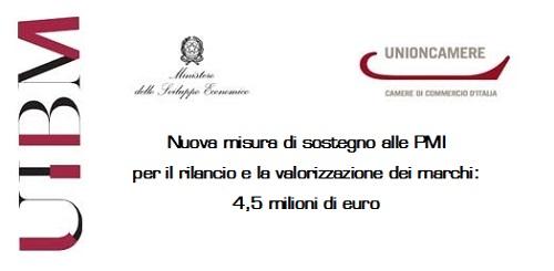 29/12/2016 – Nuova Misura Di Sostegno A PMI Per Rilancio E Valorizzazione Marchi: 4,5 Milioni Di Euro