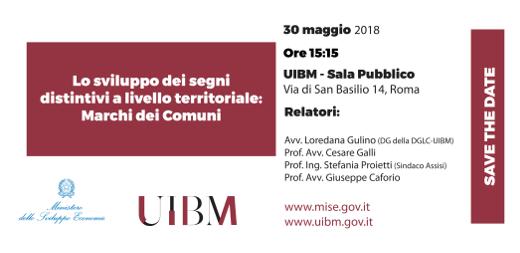 30/05/2018- Lo Sviluppo Dei Segni Distintivi A Livello Territoriale: Marchi Dei Comuni