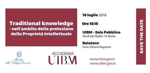 18/07/2018- Traditional Knowledge: Nell'ambito Della Protezione Della Proprietà Intellettuale