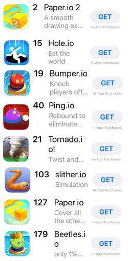 .IO Dominates The Apple App Store
