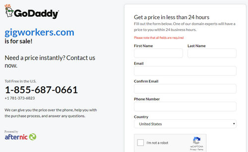 GoDaddy Adds Its Branding To 'for Sale' Landers