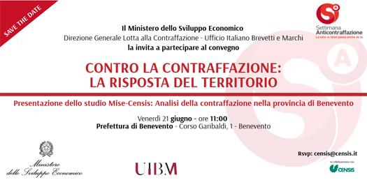 21/06/2019- Presentazione Dello Studio Mise-Censis: Analisi Della Contraffazione Nella Provincia Di Benevento